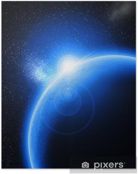 Plakát Modrá planeta - Vesmír