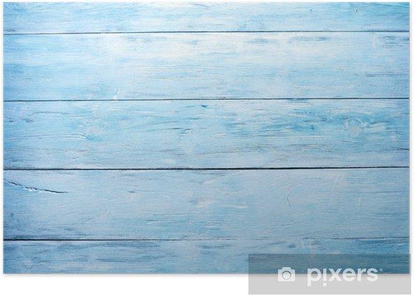 Plakát Modré dřevěné pozadí - Styly