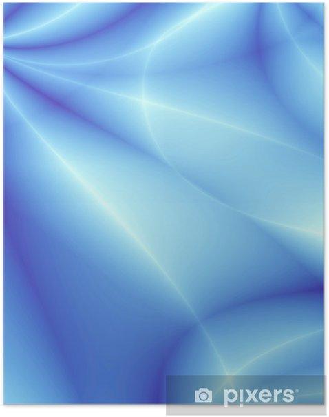 Plakát Modrý design karty - Pozadí