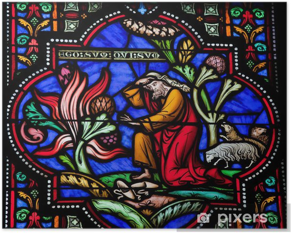 Plakat Mojżesz i gorejący krzew - Budynki użyteczności publicznej