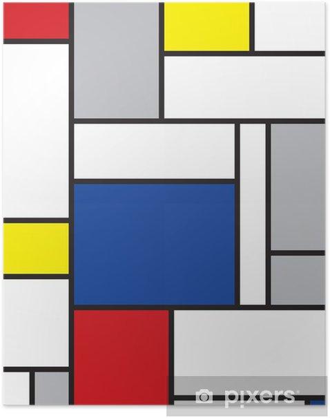 Plakat Mondrian inspirowane sztuką -