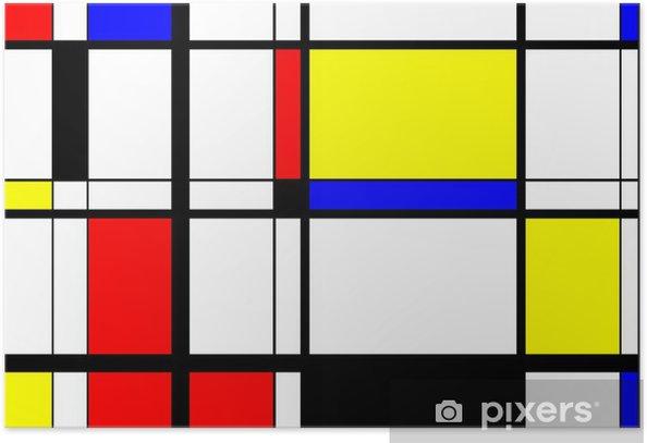 Plakat Mondrian sztuka cyfrowa - iStaging