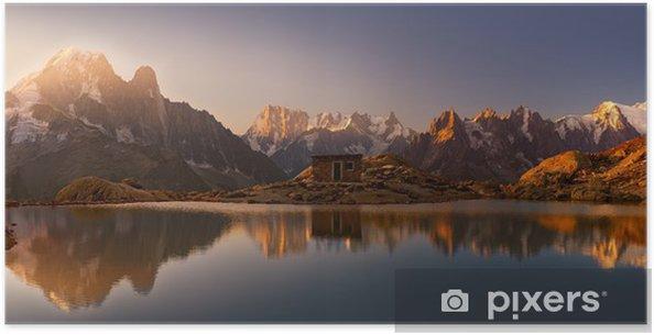 Plakat Mont Blanc oraz Alpy odzwierciedlone w White Lake - Przeznaczenia