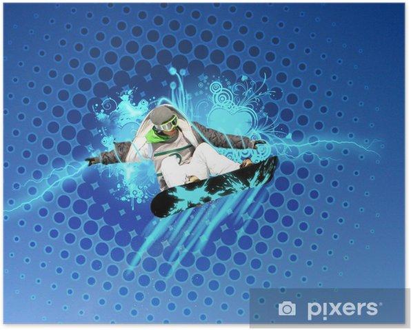 Plakat Montaż snowboard -