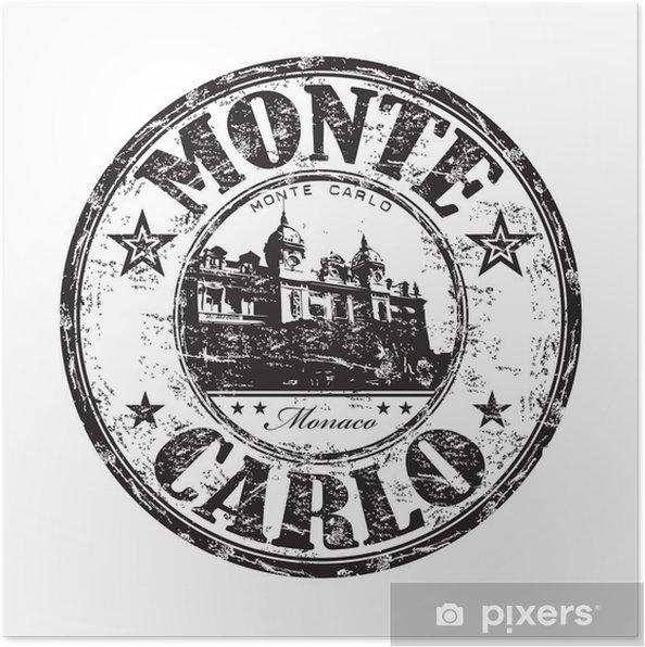 Plakat Monte Carlo pieczątka - Europa