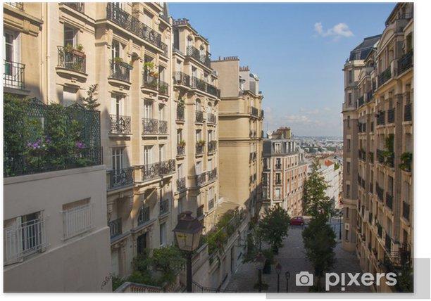 Plakát Montmartre ve městě Paříž - Evropská města