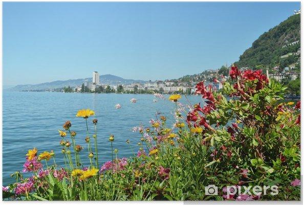Plakat Montreux. Szwajcaria - Tła