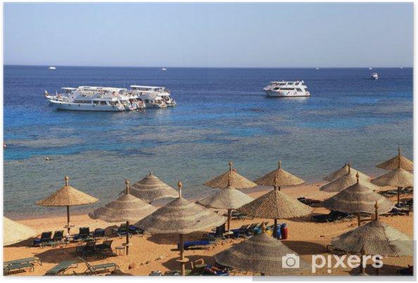 Plakat Morze Czerwone plaża, Sharm El Sheikh, Egipt - Wakacje