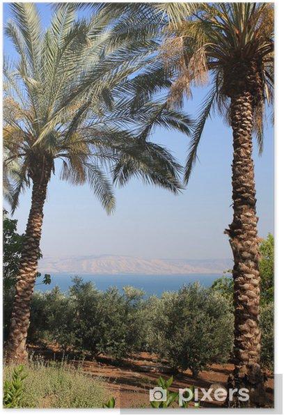 Plakat Morze Galilejskie. - Bliski Wschód