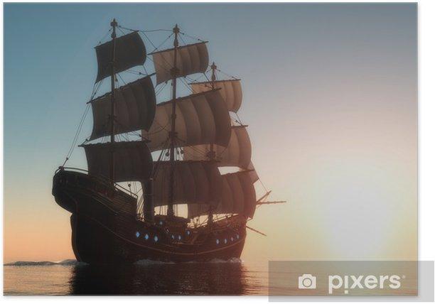 Plakat Morze z łodzi - Wakacje
