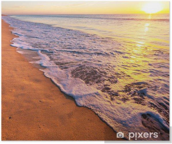 Plakat Morze zachód słońca - Wakacje