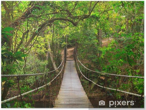 Plakat Most do dżungli, Tajlandia - Przeznaczenia