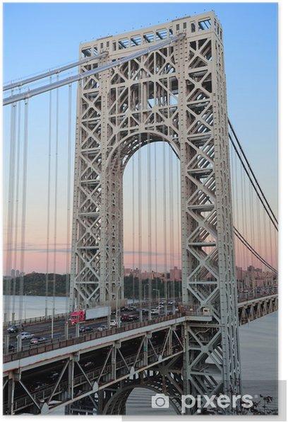 Plakat Most Jerzego Waszyngtona - Miasta amerykańskie