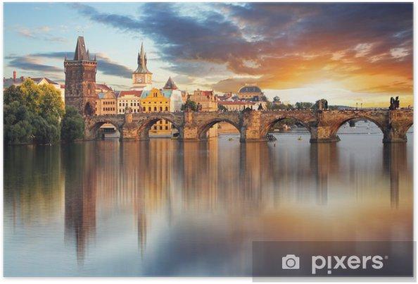 Plakat Most Karola w Pradze, Republika Czeska - Praga