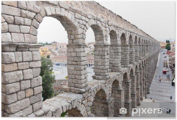 Plakat Most Roman Akwedukt w Segowii, pierwszym wieku naszej ery. - Europa