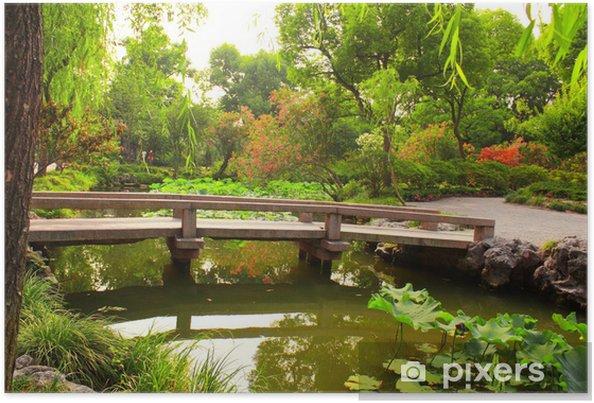 Plakat Most w Ogród Humble administratora w Suzhou, Chiny - Azja