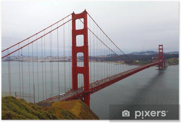 Plakat Most w San Francisco - Miasta amerykańskie