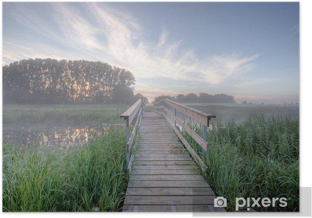 Plakat Most - Krajobraz wiejski