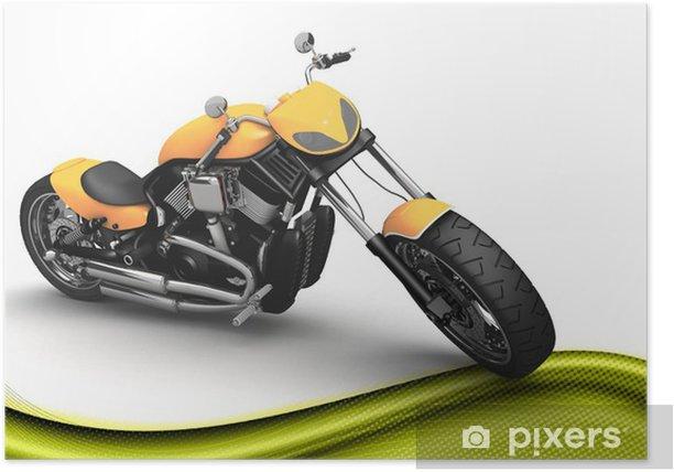 Plakat Moto custom moderna 3D - Transport drogowy