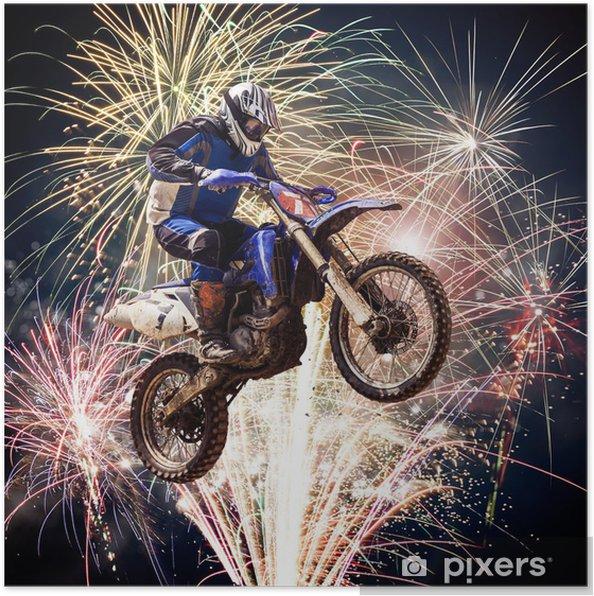 Plakat Motocross - Sporty ekstremalne
