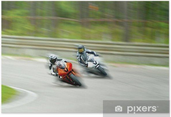 Plakat Motocykl wyścigowy - Sporty na świeżym powietrzu