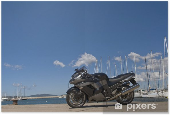 Plakát Motocykl - Na cestě