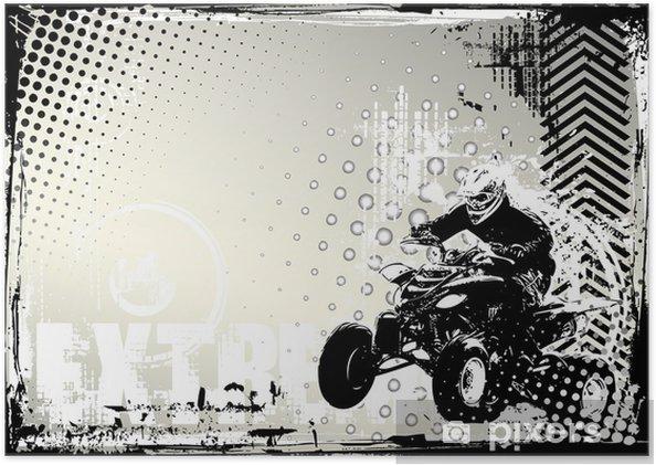 Plakat Motorsport grunge -