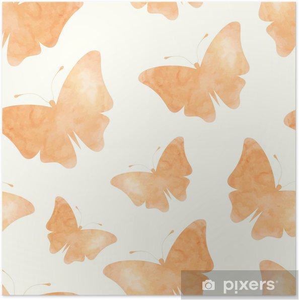 Plakat Motyle akwarela - Tła