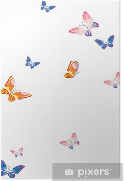 Plakat Motyle - Pory roku