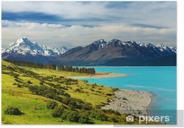 Plakát Mount Cook - Panorama