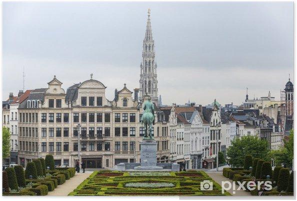 Plakat Mount of the Arts w Brukseli, Belgia. - Miasta europejskie