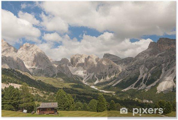 Plakát Mountain, Dolomity, Val Gardena, Jižní Tyrolsko, Itálie - Evropa