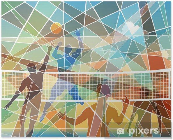 Plakat Mozaika Siatkówka - Siatkówka