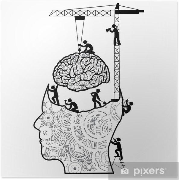 Plakat Mózg W Ramach Koncepcji Budowy