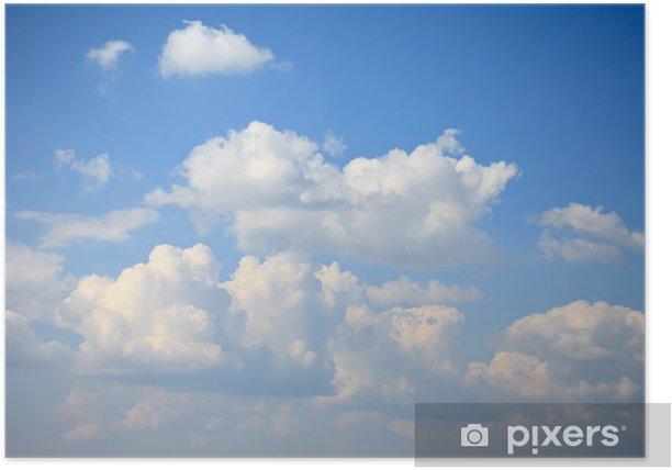 Plakát Mraky na obloze - Nebe