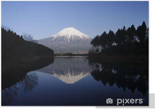 Plakat Mt.Fuji and Lake Tanuki - Tematy