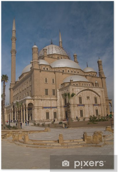 Plakat Muhammad Ali meczet, Kair Egipt. - Religie