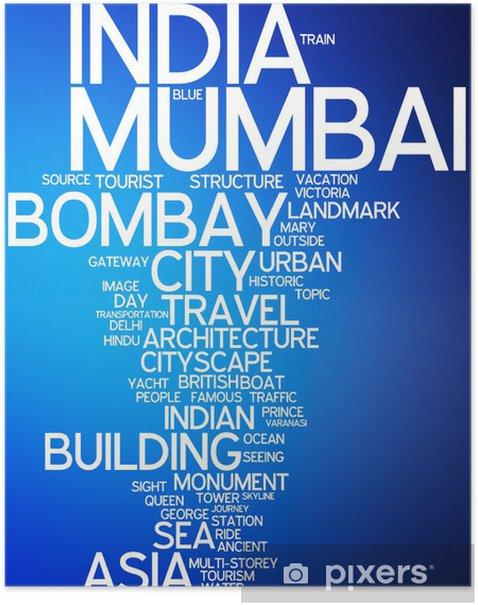 Plakat Mumbai, Indie - Azja