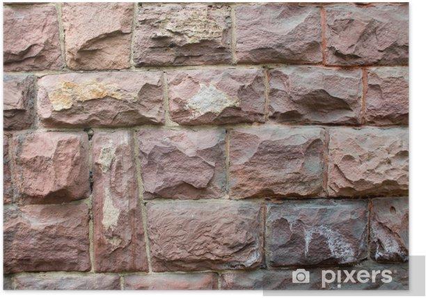 Plakat Murowane tekstury - Przemysł ciężki