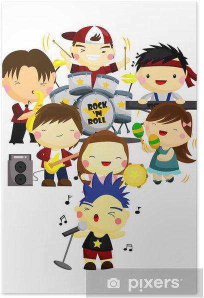 Plakát Music band - Děti