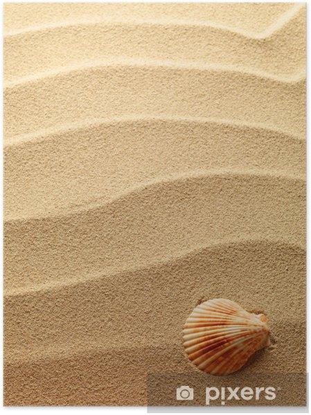 Plakát Mušle s pískem jako pozadí - Struktury