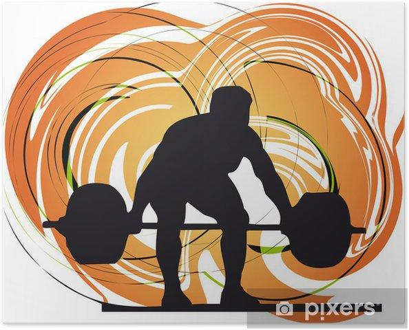 Plakát Mužské tělo tvůrce vektorové ilustrace. - Individuální sporty