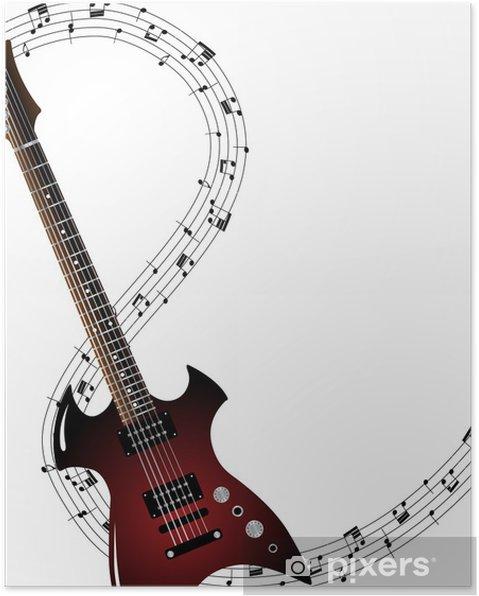 Plakat Muzyczne Grunge