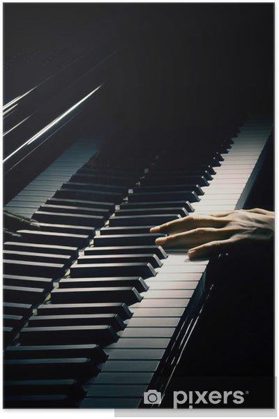 Plakat Muzyka pianista Piano playing ręka. - Fortepian