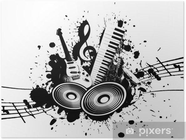 Plakat Muzyki Grunge