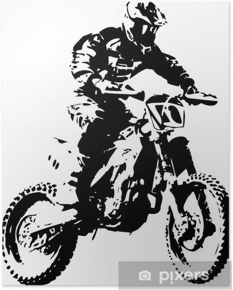 Plakat Mx rider - Naklejki na ścianę