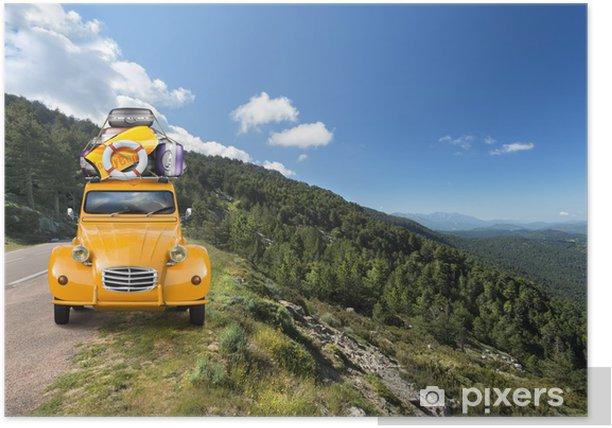 Plakat Na wakacje jazdy - Wakacje