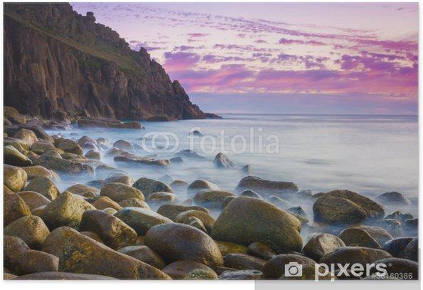 Plakat Na Zmierzchu piękny Cove - Europa
