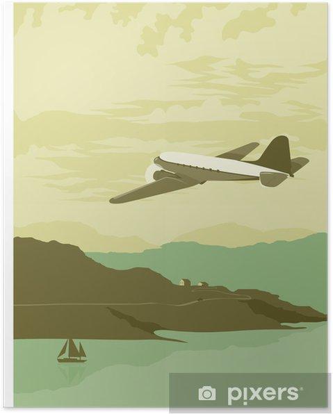 Plakat Nad zatoką - Transport powietrzny