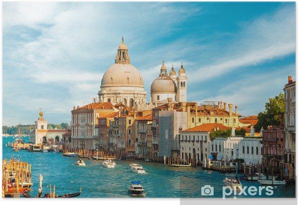 Plakát Nádherný výhled na Grand Canal, Benátky, Itálie - Památky